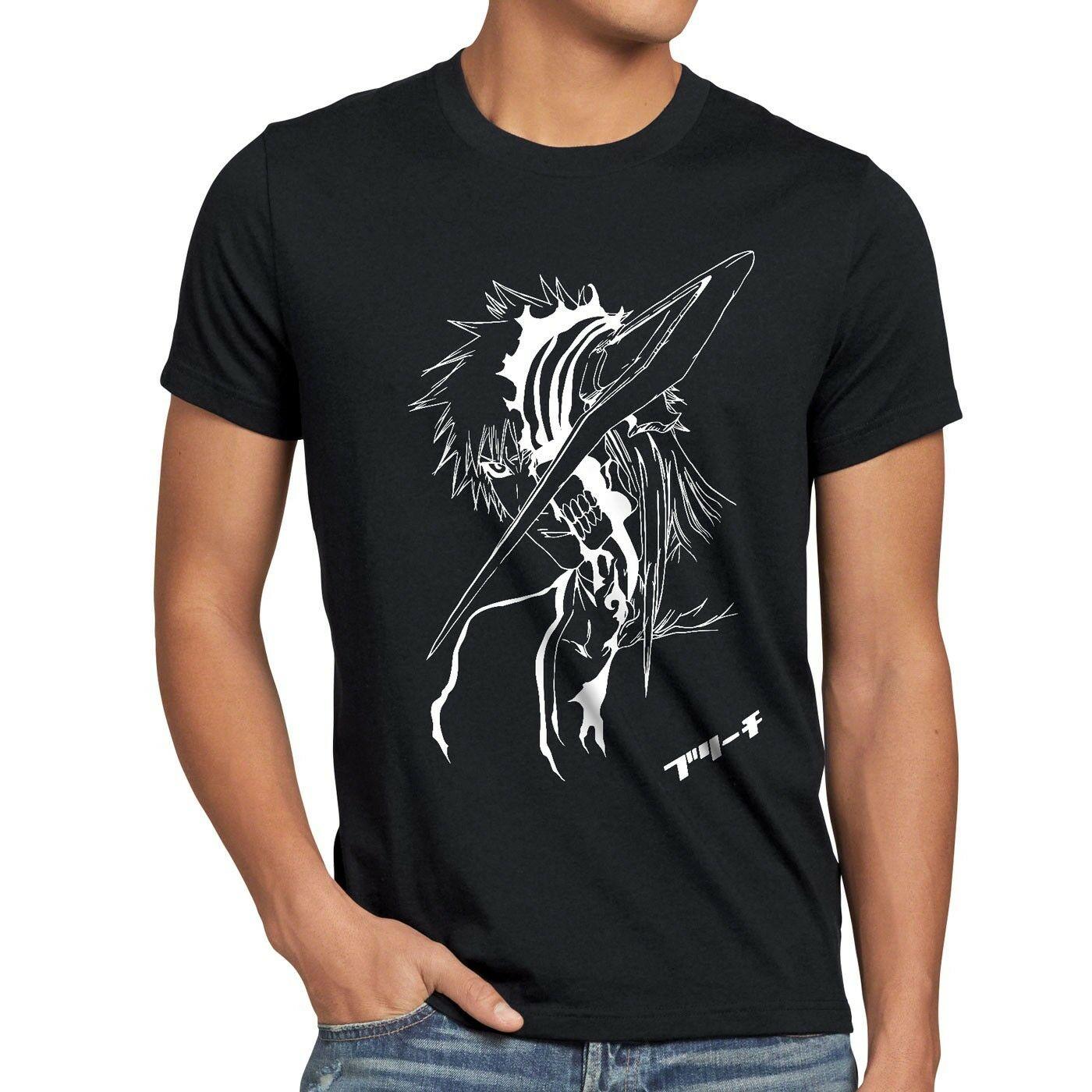 Camiseta Ichigo Herren, camiseta de dibujos animados kurosaki rujia, calada, con lejía Shinigami, Unisex, nueva camiseta de moda, gratis