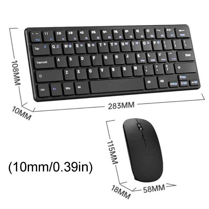 2.4G اللاسلكية لوحة المفاتيح ماوس كومبو مجموعة 1200 ديسيبل متوحد الخواص الصامت USB التحكم لأجهزة الكمبيوتر المحمول PC P9YA