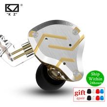 KZ ZS10 Pro Metall Headset 4BA + 1DD Hybrid Einheiten HIFI Bass Earbuds In-Ear-Monitor Kopfhörer Noise Cancelling Kopfhörer KZ ZSN AS16