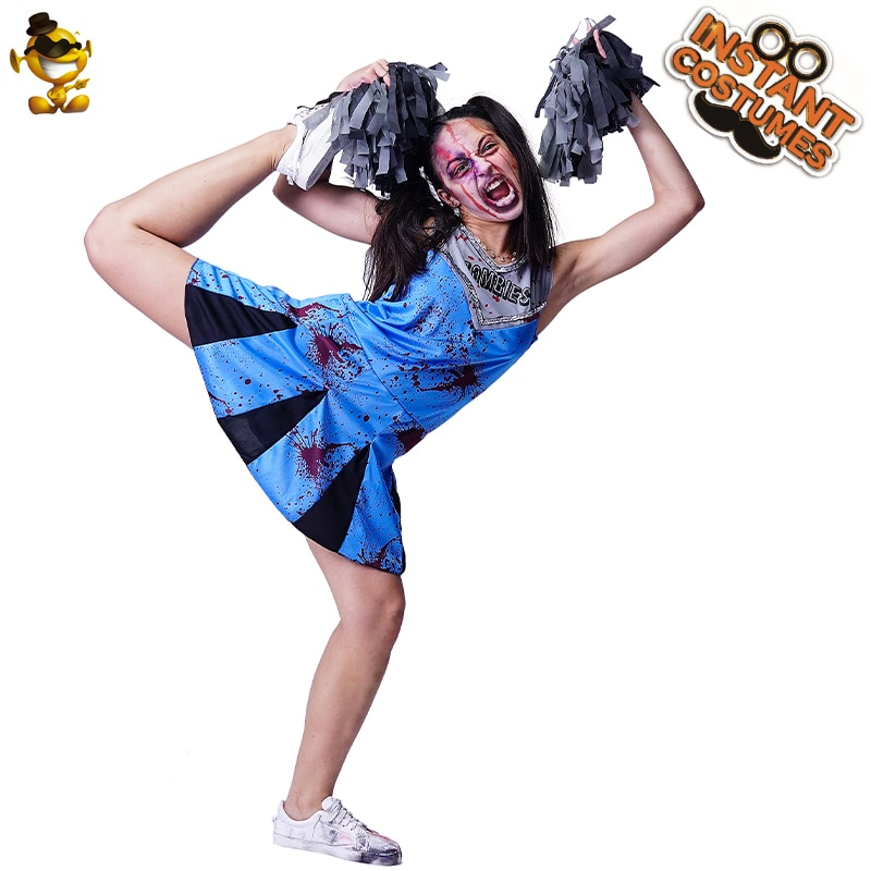 Bloody Cheerleader Costumes Halloween Scary Bloody Students Purim Party Role Play Bloody Costume Party Dress