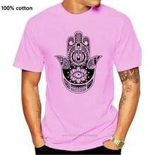 Schinken und Khamsa hand Yoga Liebe Frieden Symbol Frau T Shirt 3 4 Kurzarm T-Shirts    -