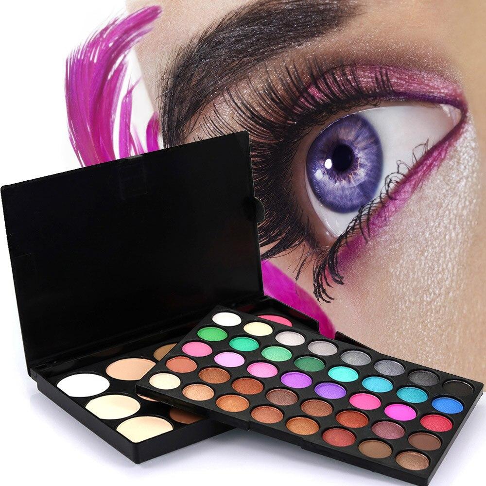 55 colores pallete brillo natural paleta de sobras para olhos Diamante de larga duración impermeable brillo sombra de ojos J903