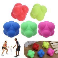 Bola de entrenamiento bola Hexagonal colorida reacción ágil hacia la mejora de la capacidad de respuesta reacción de mano-ojo pelota de Fitness Juguetes