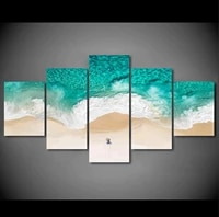 natural sea wave landscape 5 panel canvas picture print wall art canvas painting wall decor for living room poster no framed