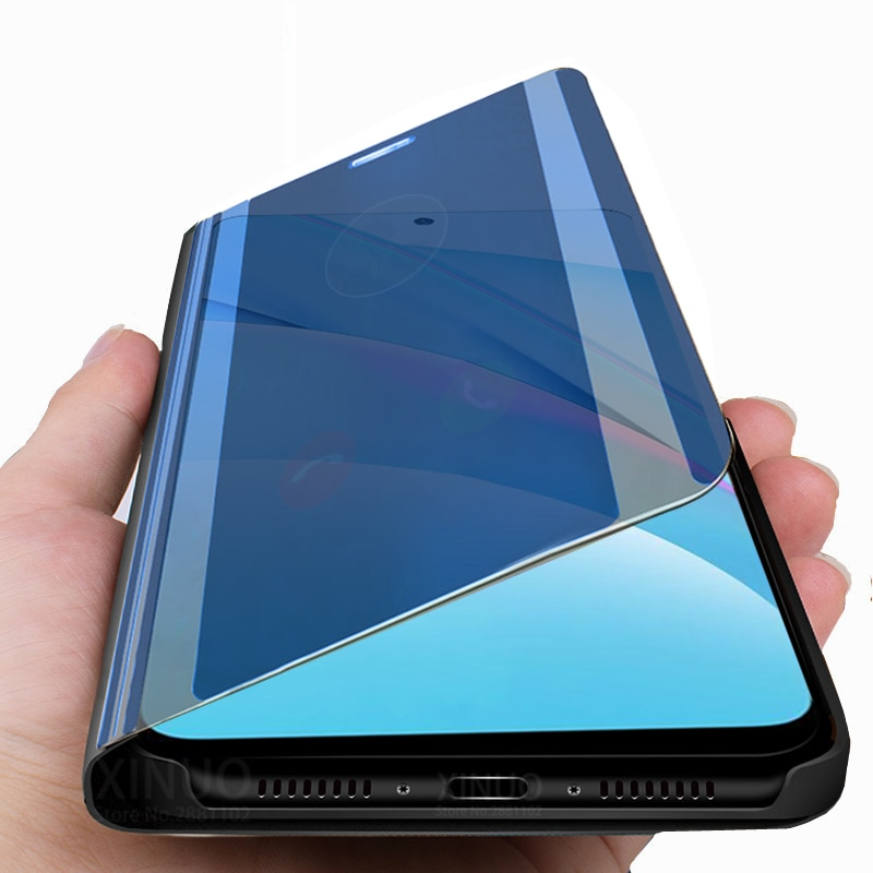 AliExpress - for xiaomi Mi 10T lite 5G smart Mirror case For xiaomi 10T 10 T lite light Mi10T lite stand book flip cover coque xaomi 10T lit