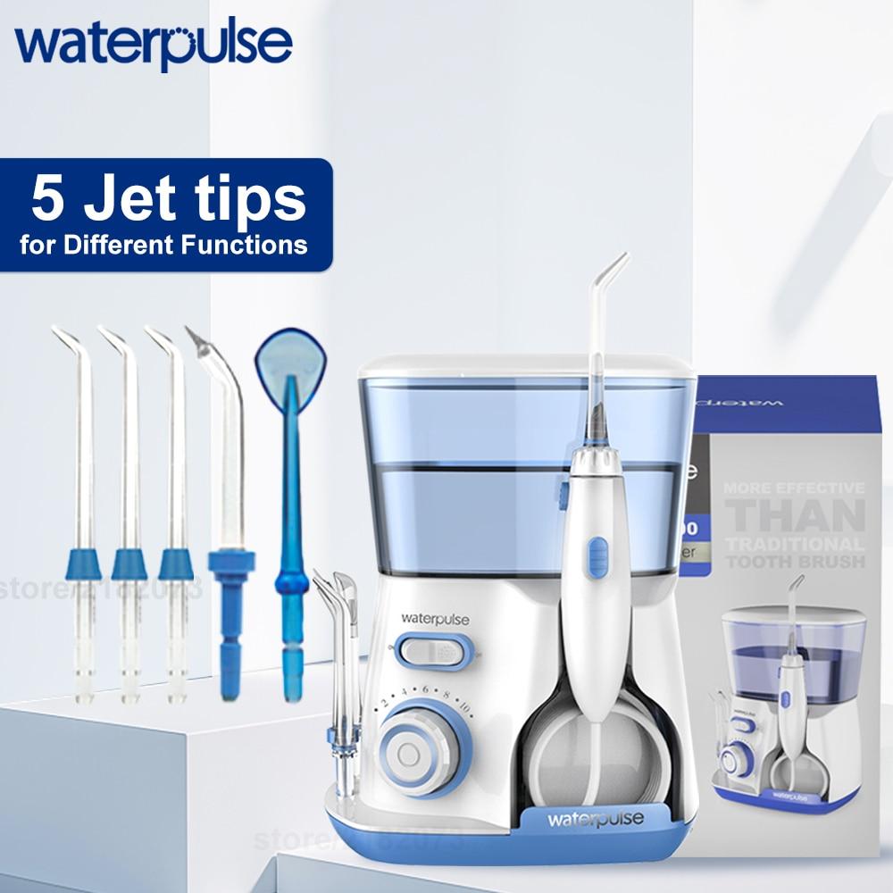 Oral Irrigator v300 12 Pressure Water Flosser 800ml Teeth Cleaner Family Care Irrigator Dental Dental Water Jet 5 Tip enlarge
