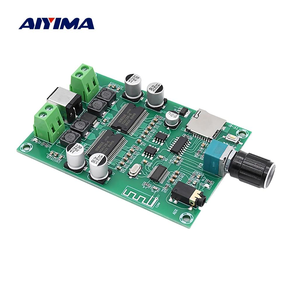AIYIMA Bluetooth 5.0 Digitale Versterker Audio Board YDA138-E Dual Channel 20W Stereo Mini Amp AUX TF DIY Sound Speaker versterker