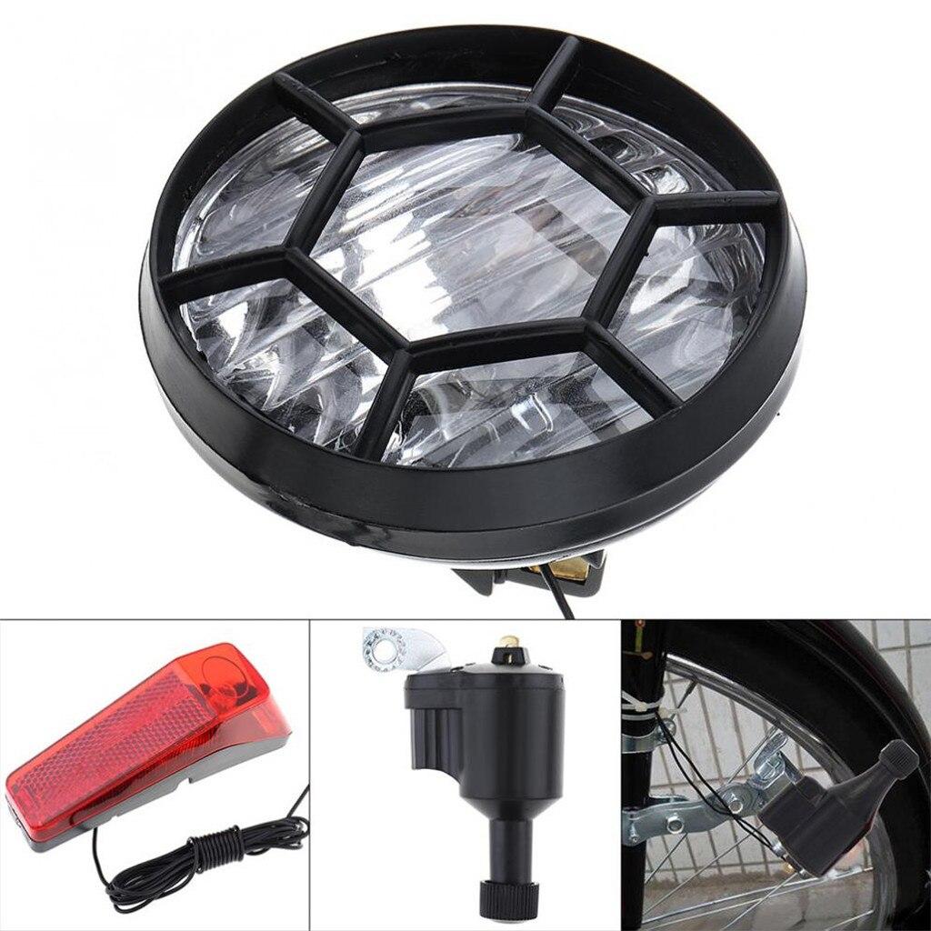 Luz de bicicleta Motorizada, generador de fricción, Dinamo, Kit de faro trasero,...