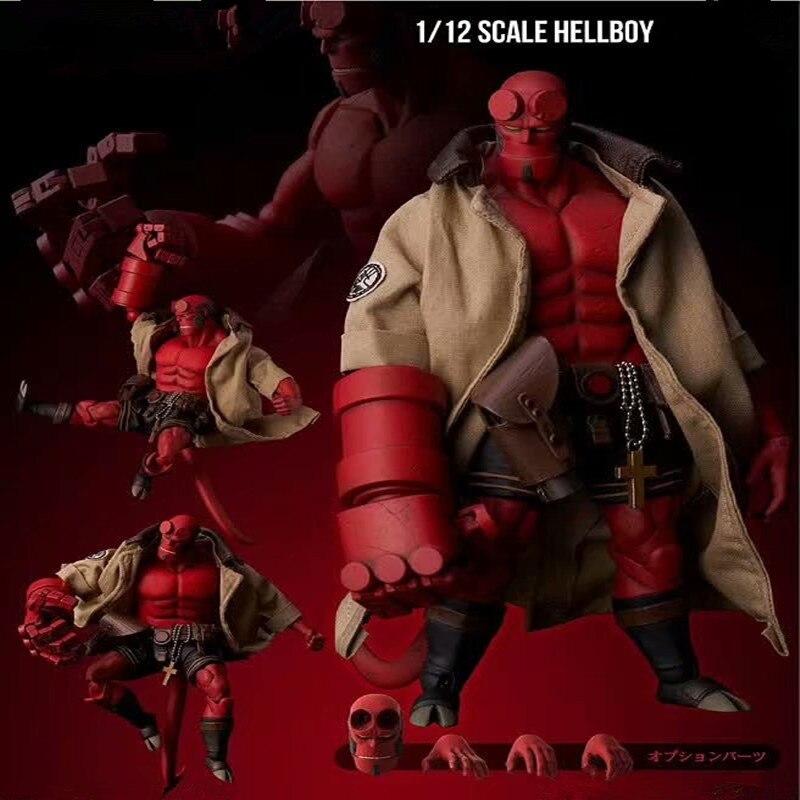 18 см Mezco реальная одежда может быть раздета Hellboy фигурку модель игрушки кукла для подарка