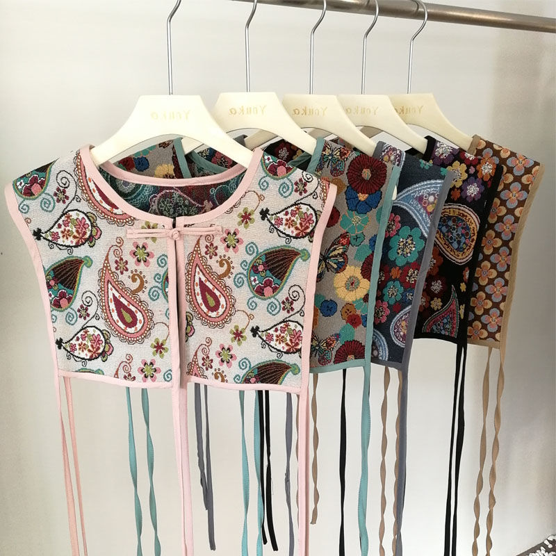 Women Vintage sequins flower embroidery vest jacket ladies retro national style patchwork casual waistCoat