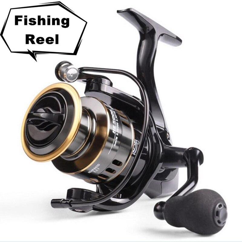 2020 New Fishing Reel HE1000 Max Drag 10kg Reel Fishing 5.2:1 High Speed Metal Spool Spinning Reel Saltwater Reel reel nursing