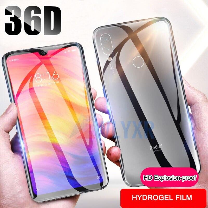 36D Front + Back Soft TPU Premium Screen Protector For Xiaomi Mi 9 9SE CC9 CC9e Hydrogel Film On Redmi K20 7A Note 7 S A 6 5 Pro