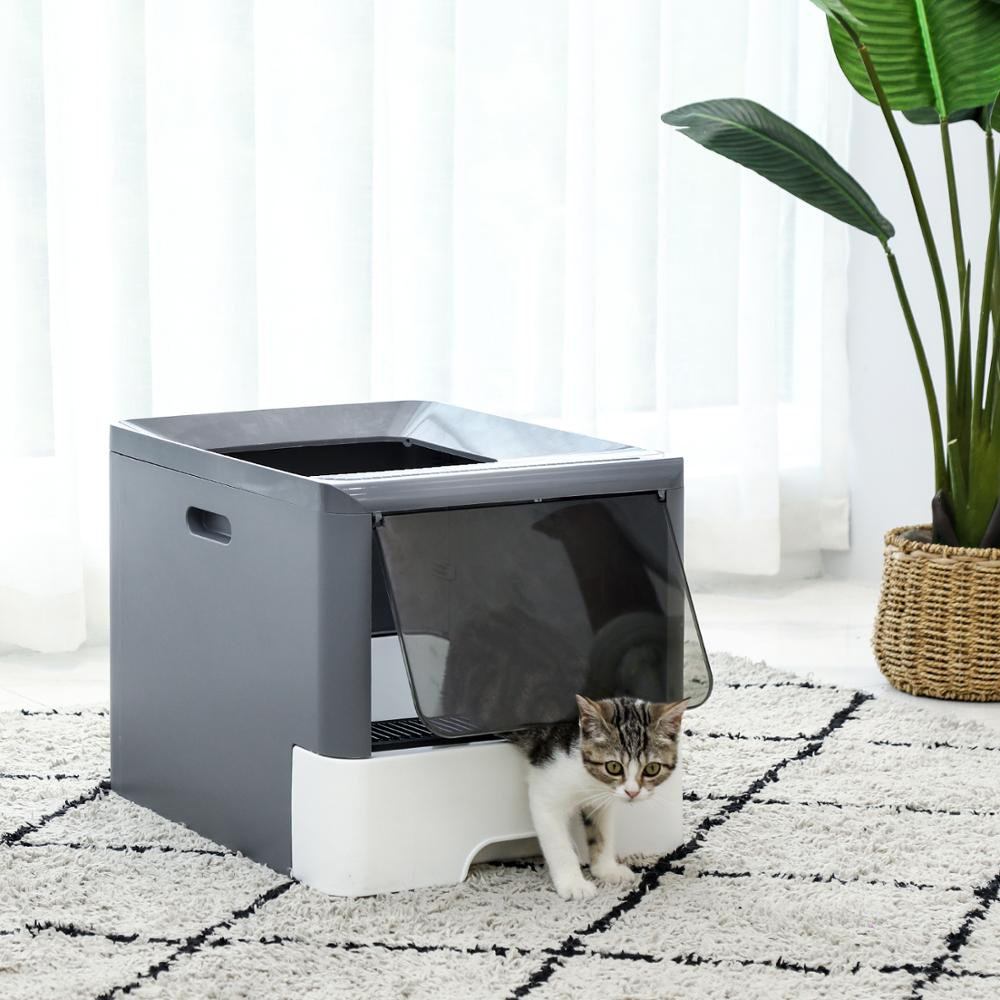 Litter Boxes for Large Cats Foldable Litter Box Comes with Shovel Tray Kitten Toilet Well Designed Space Efficient