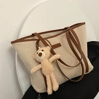 summer fashion shoulder female bags for women 2021 pu leather english embossed pattern handbags ladies doll pendant clutch bag
