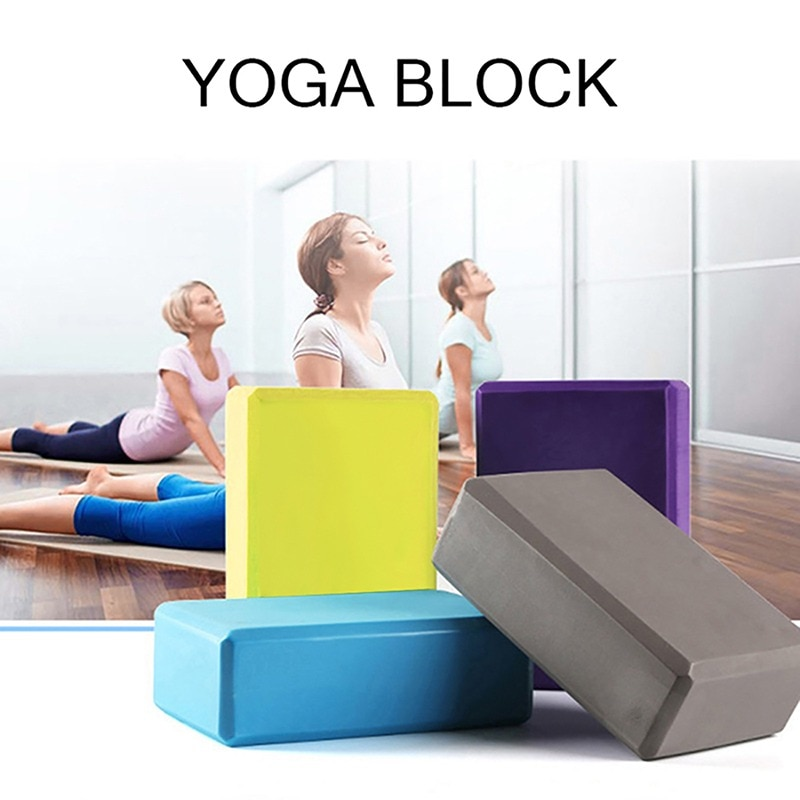 Gym Fitness Yoga Tool 2021 hot EVA Yoga Cork Block Pilates Foam Brick Home Stretch Exercise Training Bodybuilding Equipment