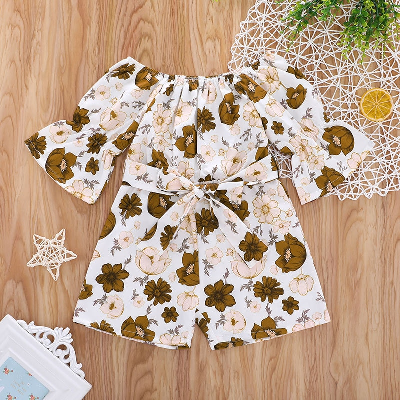 2021 Baby Girls Clothes Sets Toddler Kids Summer Outfits Cute Flower Free Shipping Suit Short Designer Bodysuit Children Costume