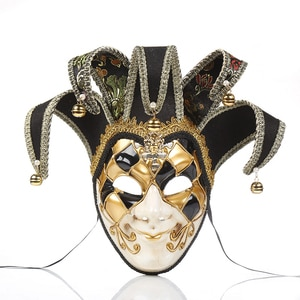 Top Grade Luxury The Masks Festival Party Christmas Masquerade Facial Mask Halloween Cospaly Venice Carnival Plastic Mask Bauta