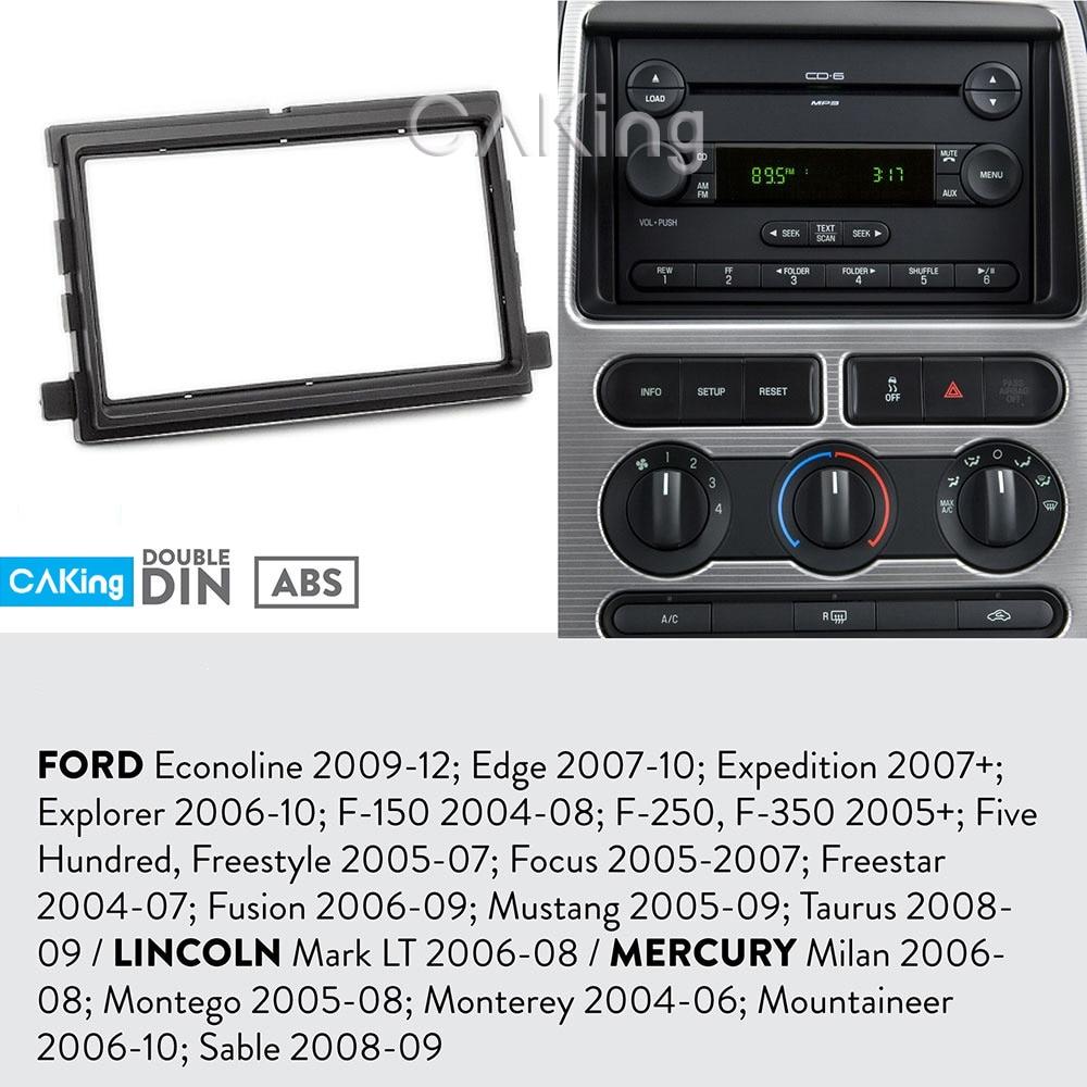 Car Fascia Panel de Radio para Ford fusión 2006-09; Mustang 2005-09; Taurus 2008-09; Transit Connect 2012-13 Dash Kit bisel adaptador