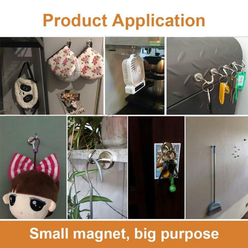 Cangkuk magnet tugas berat, cangkuk kuat dengan magnet neodymium - Organisasi dan penyimpanan di dalam rumah - Foto 6
