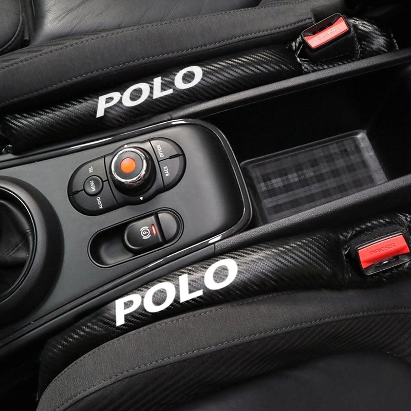 Fibra de carbono leakproof assento protetor gap capa do carro almofada para volkswagen vw polo passat b6 b7 touaregu tiguan beetle golf