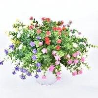 Simulation de fleurs deucalyptus artificielles  nouveau Bouquet de mariage de haute qualite  arrangement floral decoratif pour la maison  2021