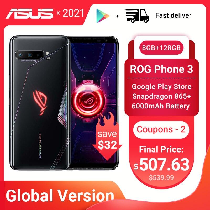 Глобальная версия ASUS ROG Phone 3 5G игровой телефон Snapdragon 865 плюс 8RAM 128ROM 6000