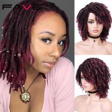 FAVE Short Dreadlock Ombre Bug 1b99J Braiding Crochet Twist Hair 6 Inch Synthetic Wig For Black Women/Man High Temperature Fiber
