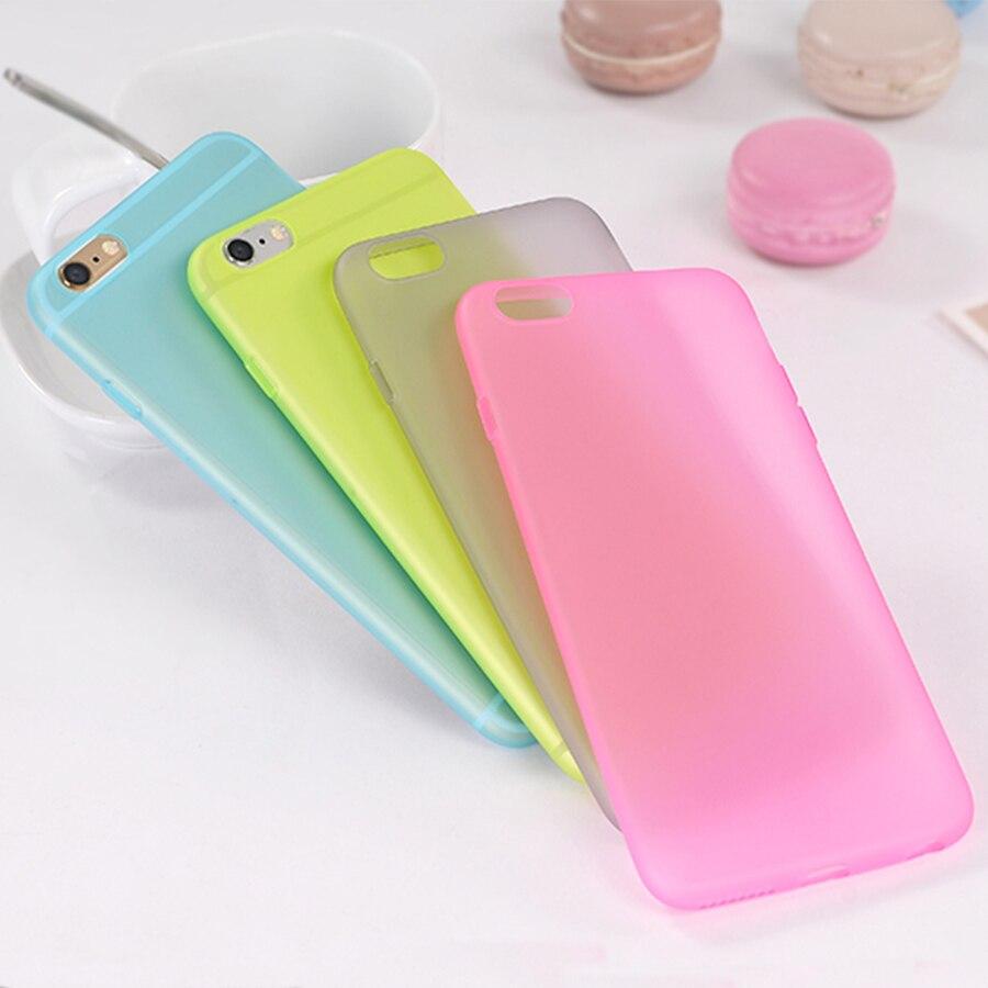 Carcasa trasera mate de diseño translúcido colorido ultrafino para iphone X XS 11 Pro Max XR 5 5s SE 6 6S 7 8 PLUS