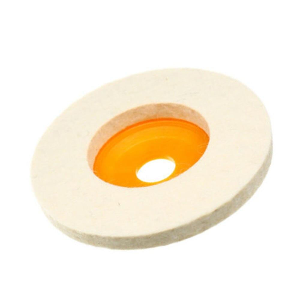 3 Pcs Set Polishing Wheel Round 4 Inches Felt Pads Grinding Buffer Sanding Discs
