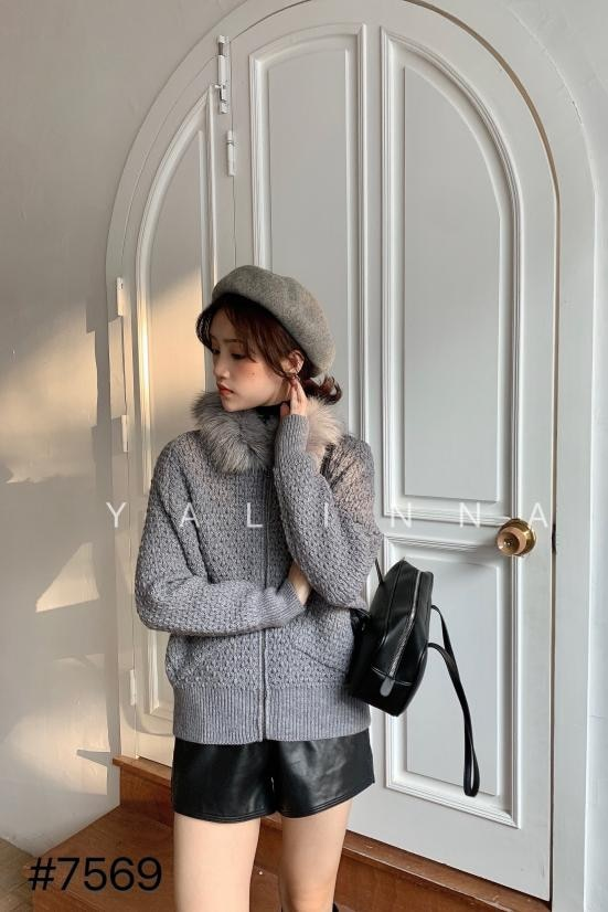 Women Sweaters And Jumper Women Computer Knitted Full Sweater 2020 New Real Fox Fur Collar Loose Lazy Style Bat Sleeve Cardigan enlarge
