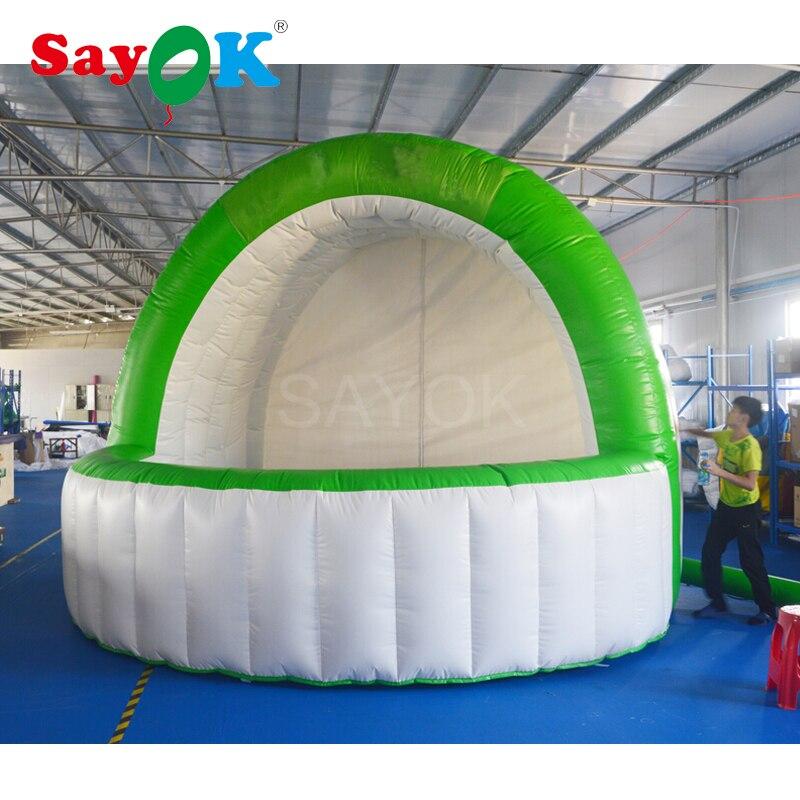 Portátil de PVC carpa de Bar inflable promoción inflable Booth con soplador de aire para la publicidad de evento