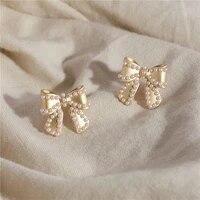 changyi 2021 trend party stud earrings women jewelry earrings shiny pearl earrings for girl gift