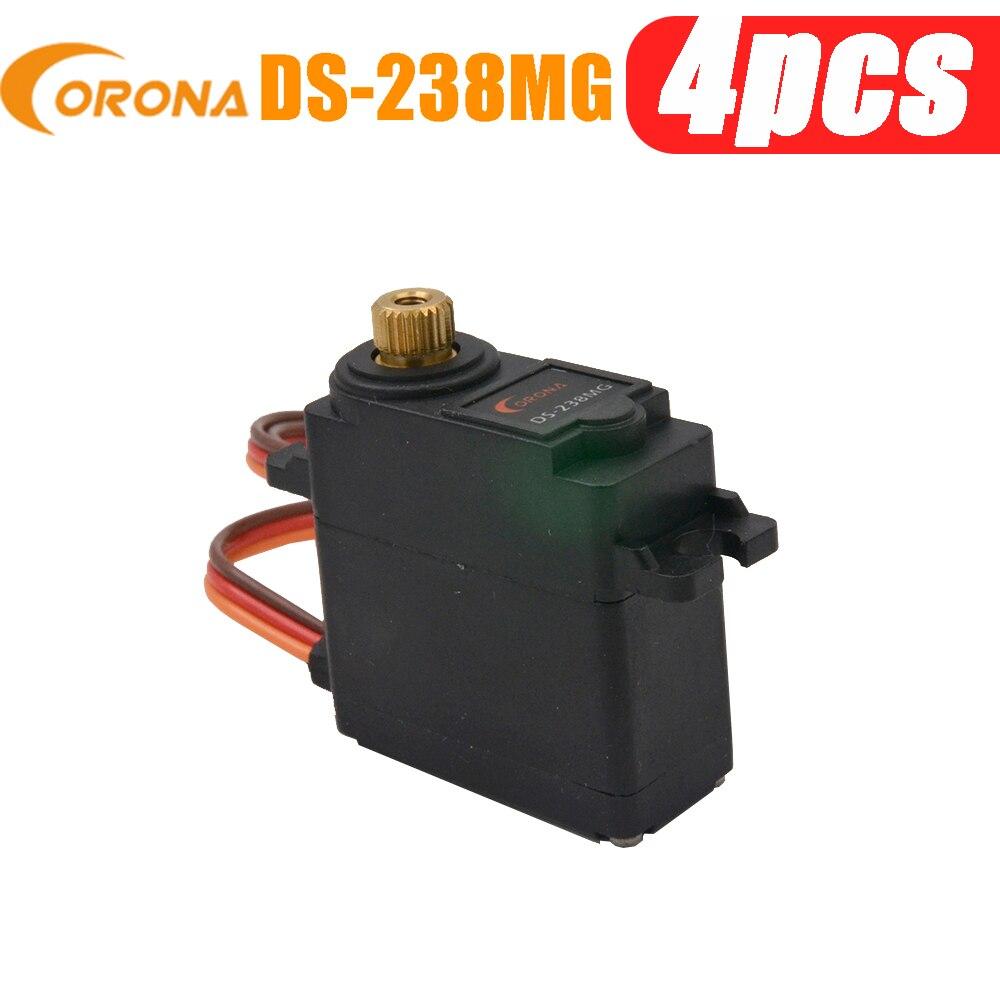 4 pces corona DS-238MG/ds238mg digital metal engrenagem servo 4.6kg / 0.14sec / 22g