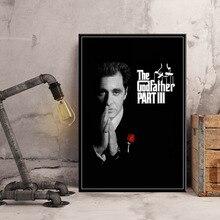 Le parrain film série Marlon Brando Al Pacino Art classique toile affiche mur décor à la maison Artwor pour chambre denfants