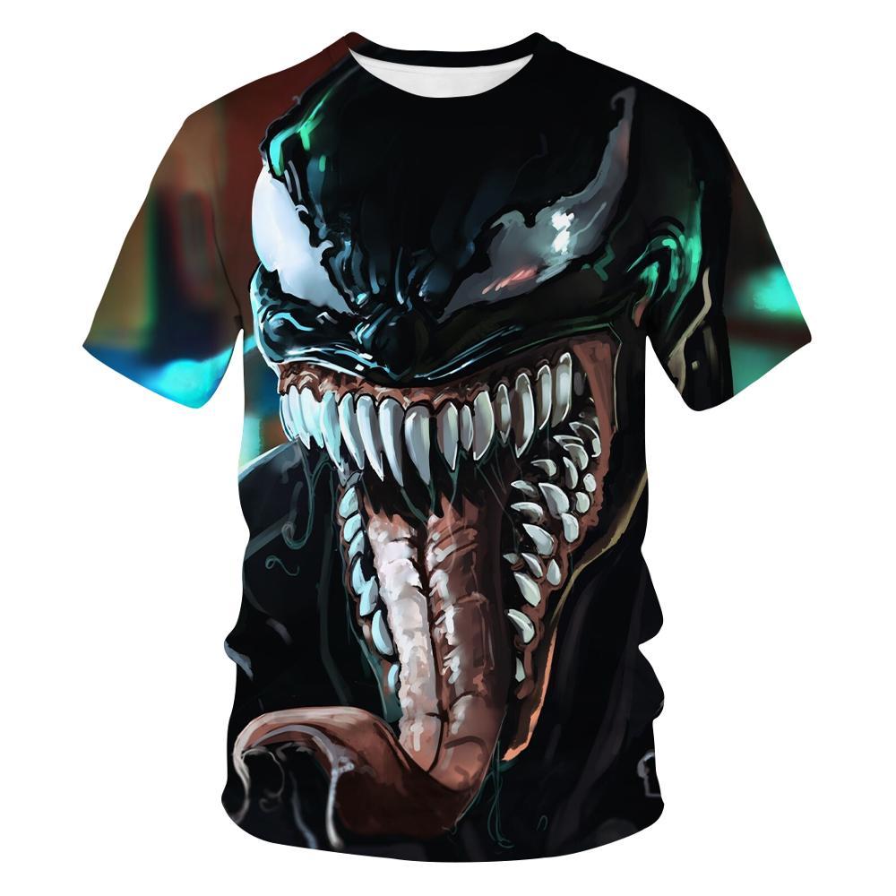2020 nueva moda personalizar diseño Venom 3D impreso camiseta única manga corta Camiseta ropa de hombre verano casual camiseta