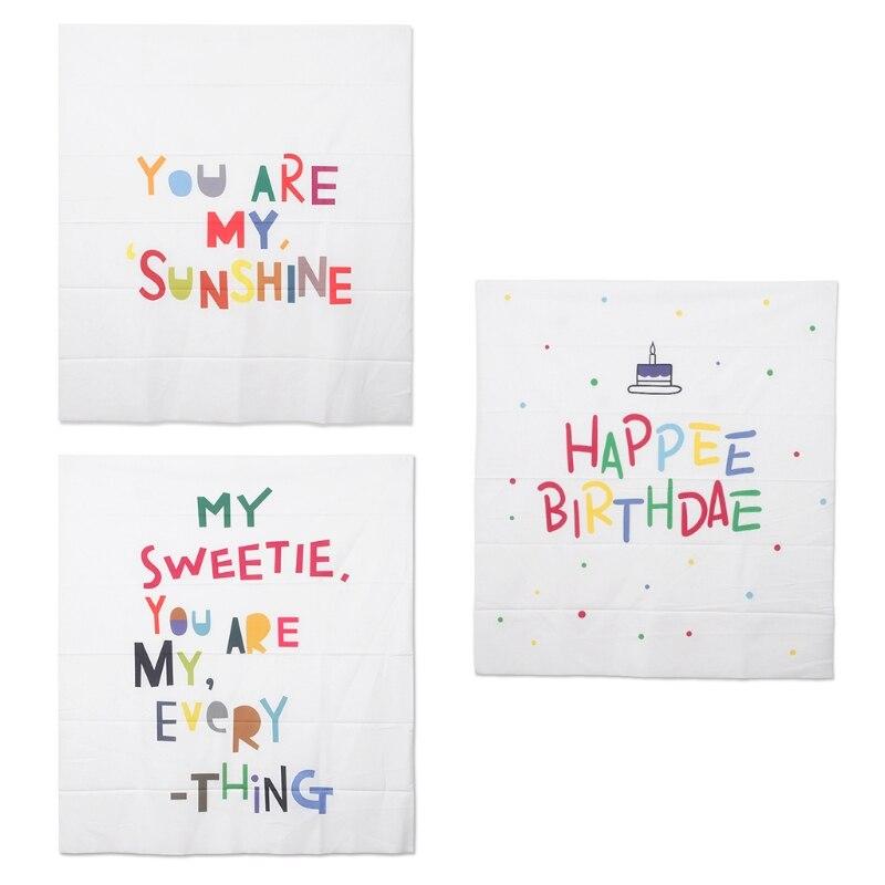 Цветные буквы печать гобелен вечерние фото фон Декор Дети День рождения подвесная ткань