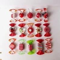 Nouveaux 15 Types de bonbons Vintage Style Murano  divers bonbons en verre  ornement pour fete a domicile  mariage  decorations de Festival de noel  cadeau