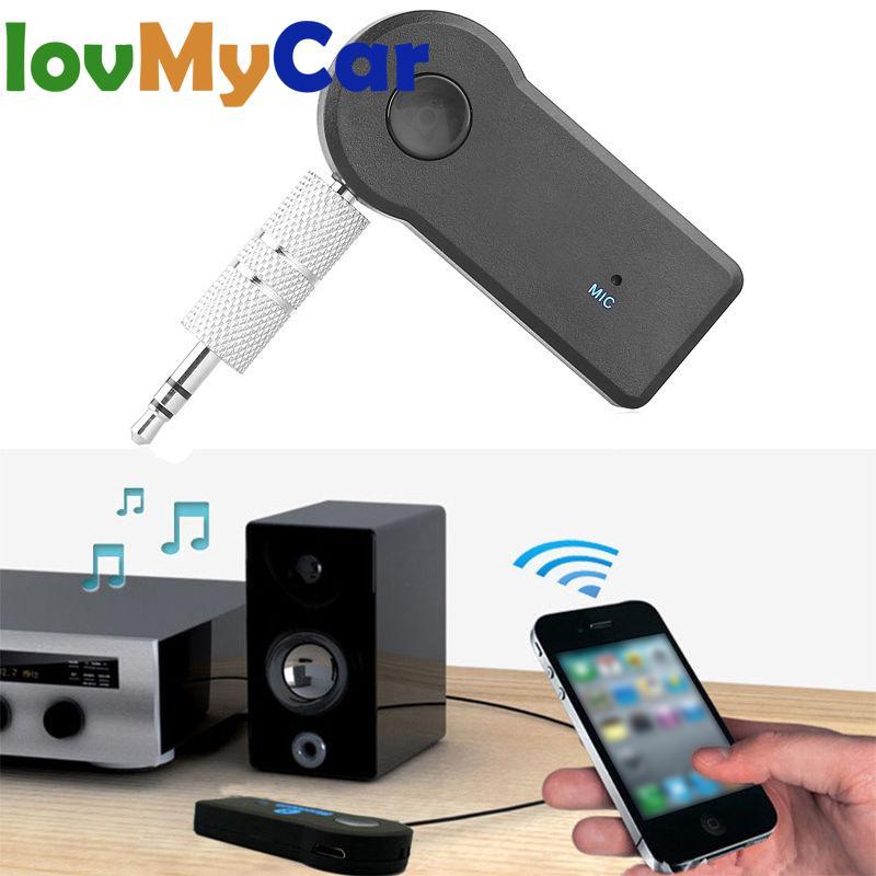 Гарнитура громкой связи, автомобильный Bluetooth-ресивер 3,5 мм, автомобильный комплект A2DP, беспроводной автомобильный AUX аудио адаптер, разъем, м...
