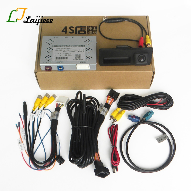 For Audi A6 A7 A8 VW Touareg OEM 8 Inch Screen Upgrade Reversing Image / 360 Front Rear View Reverse Camera Interface Decoder