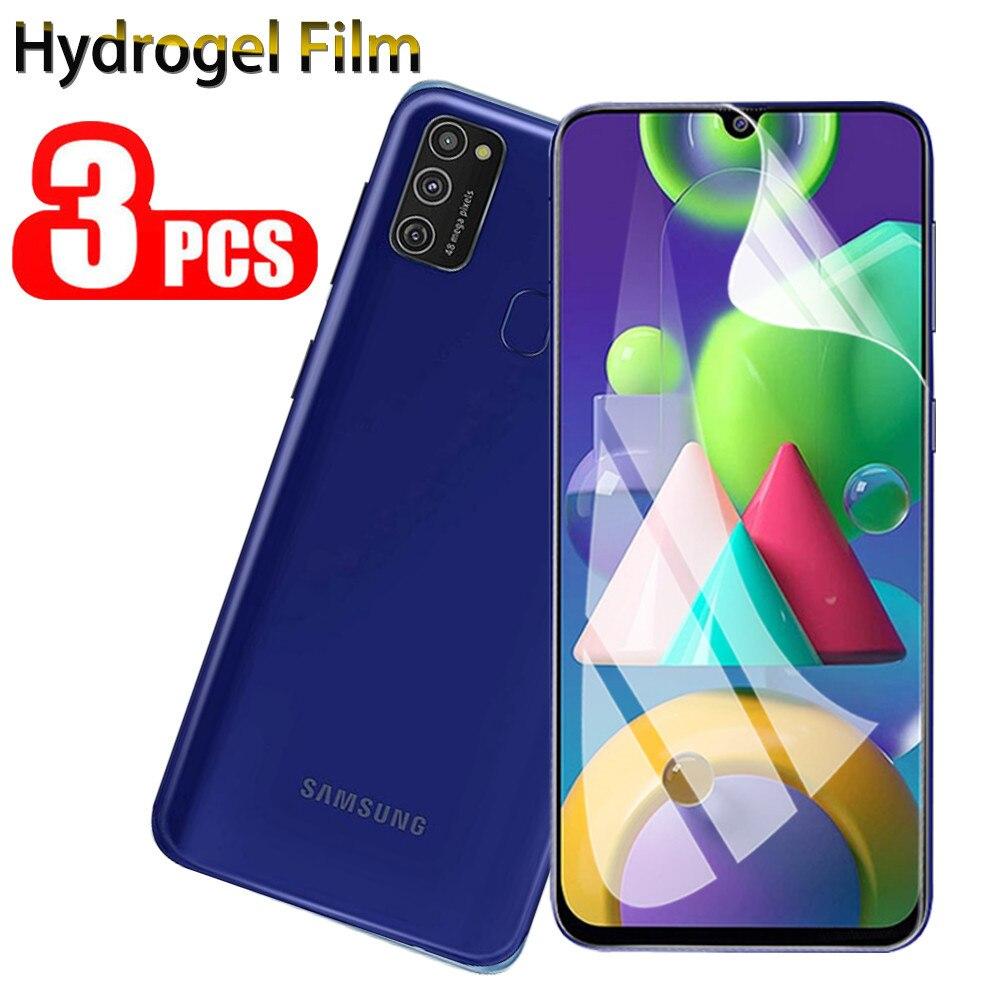 3 películas suaves de hidrogel para Samsung Galaxy M21 M30s M31 M51 A21S, película protectora para Galaxy A71 m21 not glass