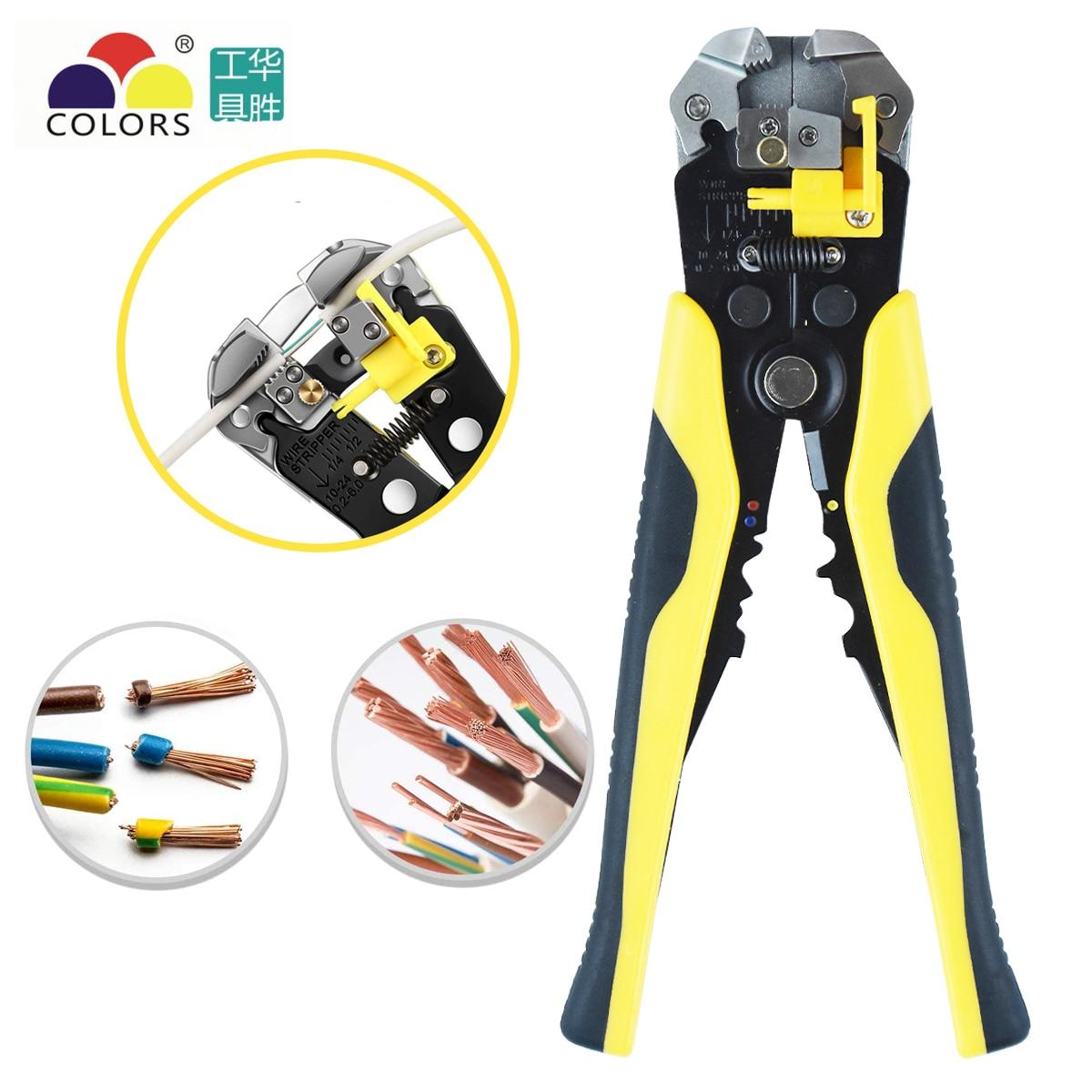 Pelacables de alambre de aislamiento autoajustable HS-D1 de AWG 10-24 herramienta automática de pelado de cables/Herramienta de alicates de corte