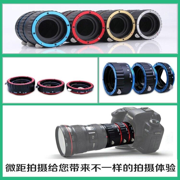 De Metal AF enfoque automático Macro extensión tubo anillo adaptador para canon EF EF-S 1dx 5d2 5d3 6d 7d 60D 80d 650D 760d 1200d Cámara