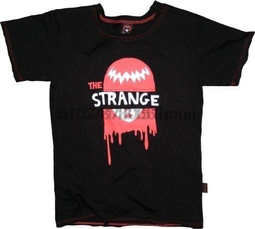 Camiseta Juniors para mujer Emily The Strange Dripping Face Cut-Out Eyes Black, camiseta de dibujos animados, camiseta Unisex para hombre, nueva camiseta de moda