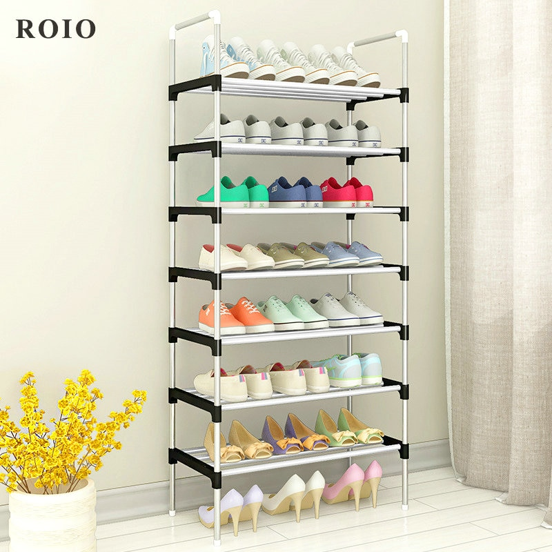 Multilayer Shoe Cabinet Easy to Install Shoes Shelf Organizer Space-saving Stand Holder Entryway Home Dorm Tall Narrow Shoe Rack