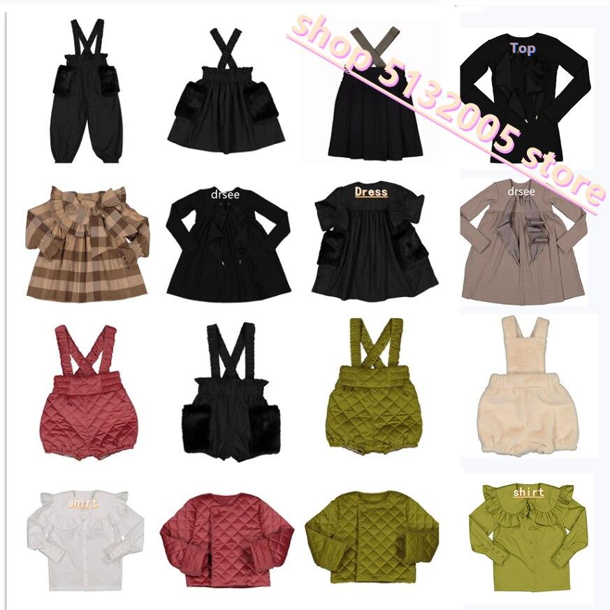 in stock 2020 Autumn and Winter New Girls Velvet Dress Worsted +cotton Bow Tie Dress Girls Christmas Dress