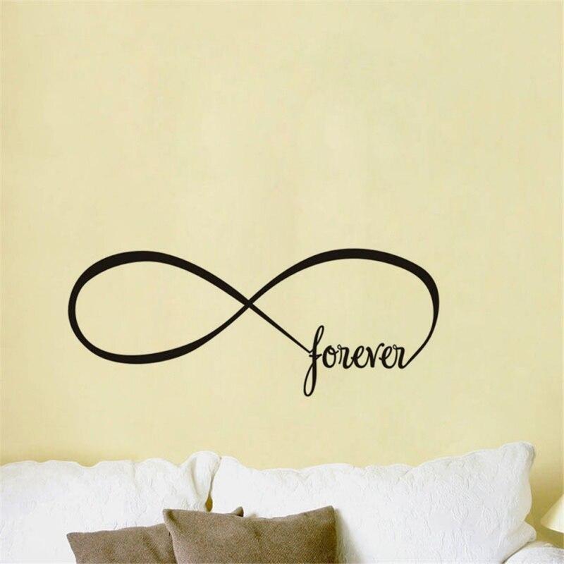 Amor romántico para siempre pegatina de pared para decoración de dormitorio decoración de sala de estar pegatinas impermeables calcomanías de pared decoración Mural
