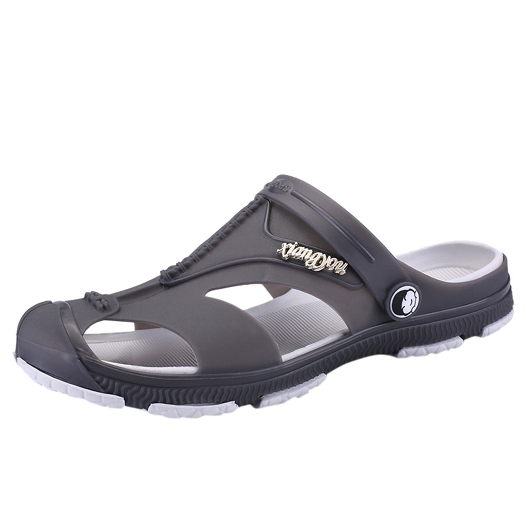 SAGACE fashion flip flops men sandals Outdoor Hole Shoes Wading Casual Shoes Men Summer Sandals Beach Flip Flop sports sandals