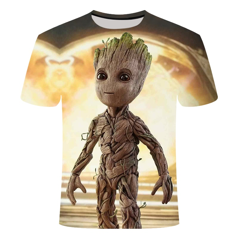 Groot camisa masculina imperador neutro caçador de recompensas super-herói filme galaxy guard engraçado novidade 3d groot flowerpot camiseta grout