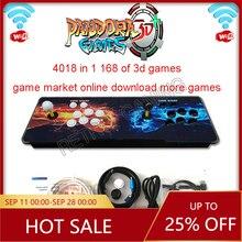 Dernière boîte Pandora 3D Arcade 4018 en 1 wifi Version LED bouton zéro retard Joystick Contoller rétro Arcade Pandoras Console