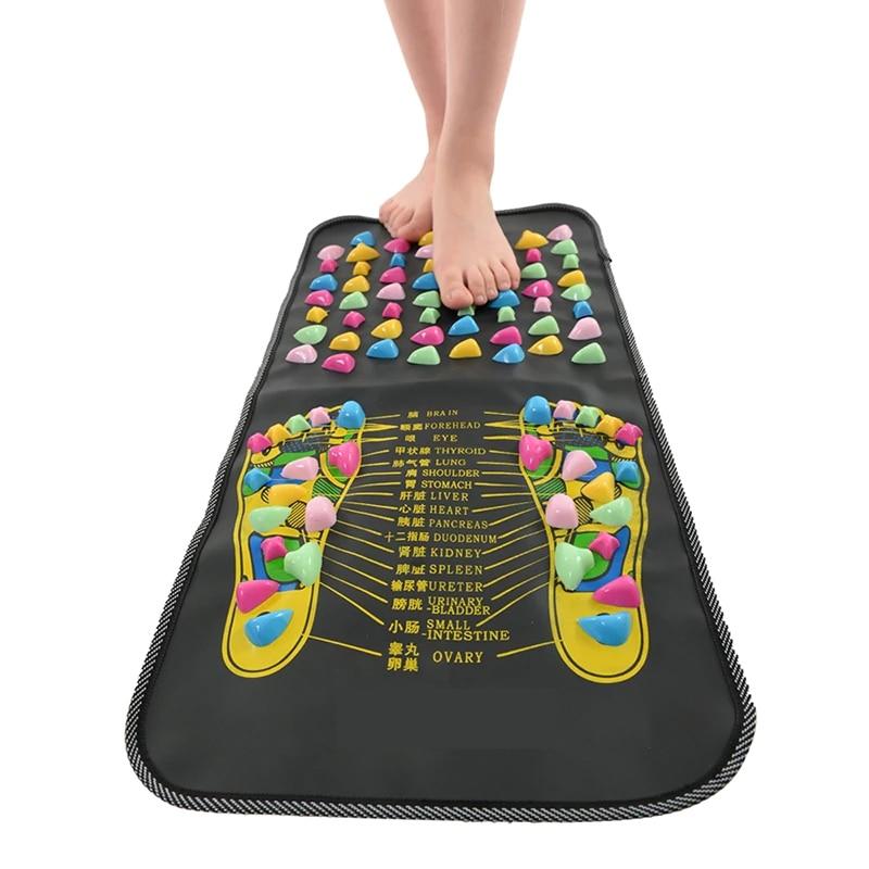 La circulación de la sangre de masaje de pies alfombra de baño chino reflexología caminar piedra dolor aliviar pie pierna Spa masaje persona salud Mat